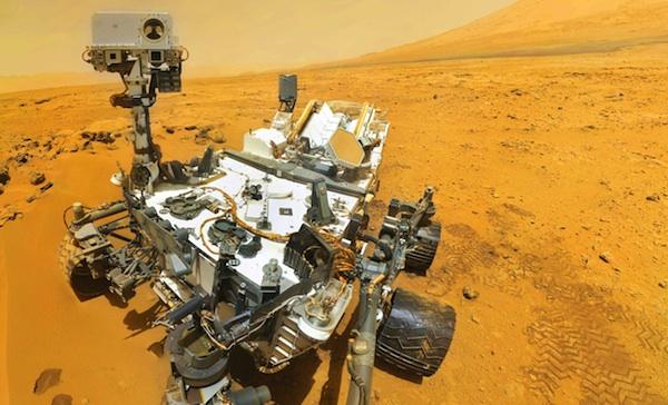 Robot Curiosity sur la planète Mars